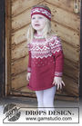 Girls (toddler, children) knit pullover Visby Tunic. Free easy pattern (norwegian).
