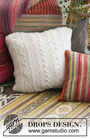 Knit pillow Elegant Comfort. Free written pattern (chart, video tutorial).