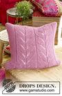 Knit pillow Lotus. Free pattern (lace; Shapes: square).