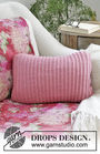 Knit pillow Marion. Free pattern (Shapes: square; chart, video tutorial, written pattern).