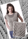 Knit women's sleeveless top Badia. Free pdf pattern.