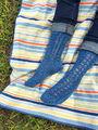 Lace socks mid calf Shenandoah. Free knitting pattern.