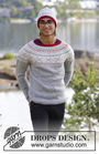 Men's and boys knit pullover Narvik. Free pattern.