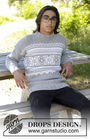 Men's and boys knit pullover Vintermys. Free pattern (norwegian).