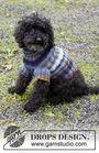 Pet clothing Paws & Stripes. Free easy knitting pattern.