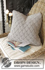 Pillow Alvira. Free knitting written pattern (chart, video tutorial, lace).