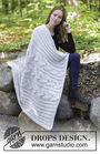 Throw blanket Dream Away. Free knitting pattern (Shapes: rectangle).