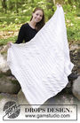 Throw blanket White Sands. Free knitting pattern (Shapes: rectangle, square).