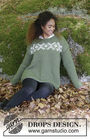 Unisex (adult, teen) knit pullover Nordkapp. Free pattern (has schematic, video tutorial).