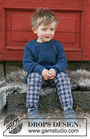 Unisex (children, toddler) knit pullover Perkins. Free pattern.
