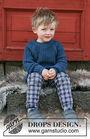 Unisex (children, toddler) knit pullover Perkins. Free pattern.