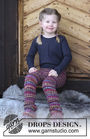 Unisex (children, toddler) pants Winter Fable. Free knitting pattern (ribbed ribbing).