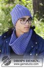 Unisex knit beanie (toque) Matterhorn. Free pattern.