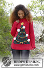 Unisex knit pullover How To Be A Christmas Tree. Free pattern.