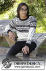 Unisex pullover Telegram. Free knitting pattern (norwegian).