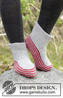 Unisex (teen, adult) slippers Nanna. Free knitting pattern for beginners.