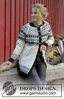 Women's and girls cardigan Telegram Jacket. Free knitting pattern.