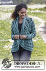 Women's and girls crochet cardigan Ornella. Free pattern (v neck; lace).
