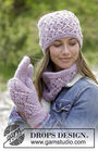Women's and girls knit collar Delicia. Free easy pattern (lace).