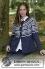 Women's and girls (teen) knit cardigan Lofoten Jacket. Free pattern (norwegian).