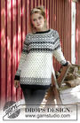 Women's and girls (teen) knit pullover Telegram For Her. Free pattern (raglan).
