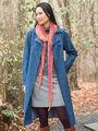 Women's lace scarf Trelawny. Free knitting pattern.