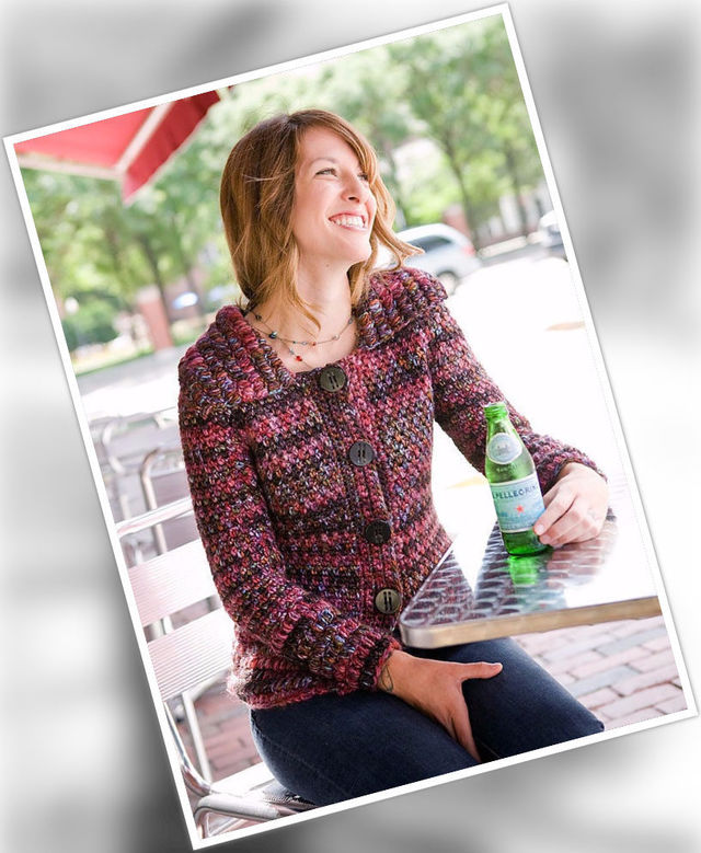 Women's and girls (teen) crochet cardigan Berme. Free easy pattern to download.