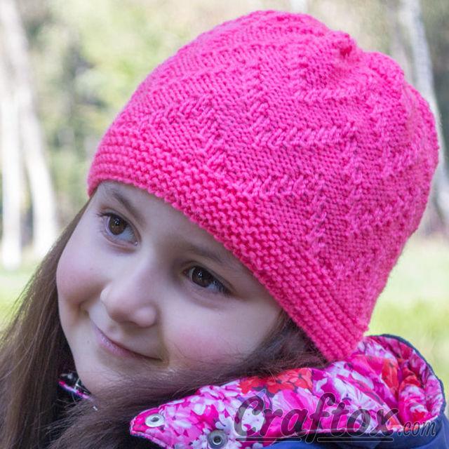 Zig Zag Hat Knitting Pattern :